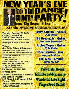 New Year's Eve Rock N Roll and Country Dance Party