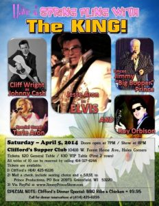 Spring Fling with the King!